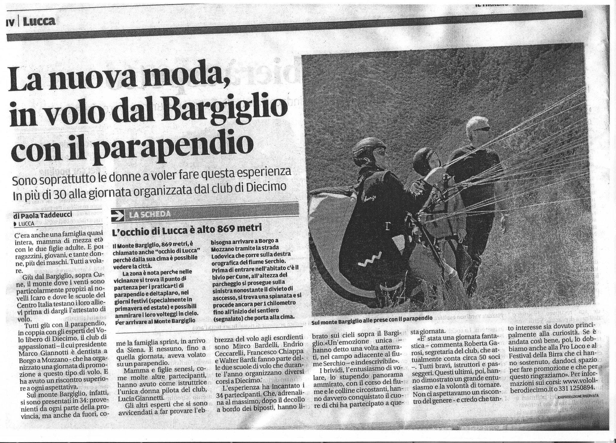 Il Tirreno 6 agosto 2012